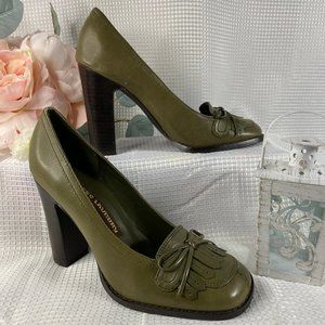 Chinese Laundry Courtney Size 6 M Army Green Heels